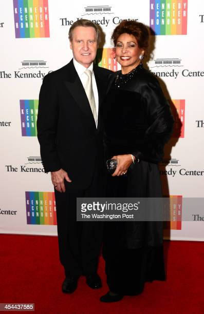 Former Senator William Cohen and wife Janet Langhart arrive at a special dinner for Kennedy Center honorees and guests at the State Department in...