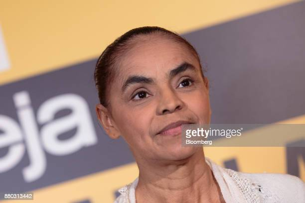 Former Senator Marina Silva listens during the Veja Political Summit in Sao Paulo Brazil on Monday Nov 27 2017 Gun ownership should be subsidized...