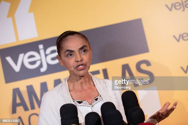 Former Senator Marina Silva speaks during the Veja Political Summit in Sao Paulo Brazil on Monday Nov 27 2017 Gun ownership should be subsidized...
