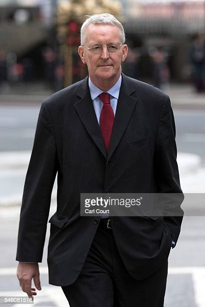 Former Shadow Foreign Secretary Hilary Benn arrives to attend a press conference held by former shadow business secretary Angela Eagle in which Eagle...