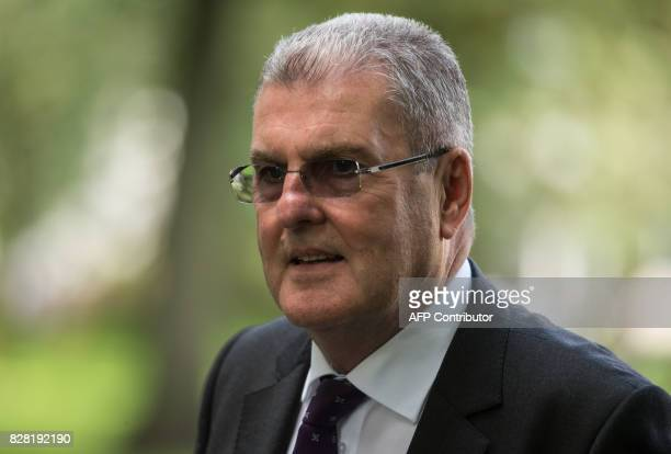Former Sheffield Wednesday Football Club secretary Graham Mackrell leaves his first court appearance in connection with the 1989 Hillsborough...