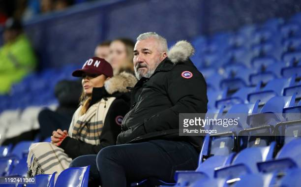 Former Sheffield Wednesday striker David Hirst is in attendance to watch his son George Hirst of Leicester City during the Leasingcom Trophy third...