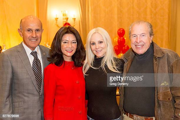Former LA Sheriff Lee Baca, his wife Carol Chiang, Actress Donna Spangler and her husband Dr. Richard Benveniste attend The Thalians Presidents...