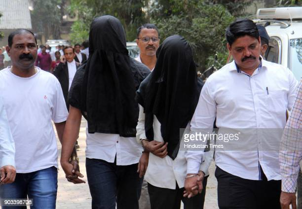 Former Shiv Sena Corporater Ashok Sawant murder accused produced at Borivali Court on January 9 2018 in Mumbai India Sawant was stabbed to death on...