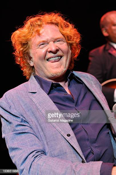 Former Simply Red vocalist Mick Hucknall performing with American blues guitarist BB King Live on stage at the Royal Albert Hall June 28 2011