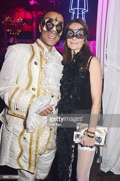 Former singer Adel Kachermi from 2Be3 band and a guest attend 'Le Bal des Princesses 2015' at Salle Wagram on November 7 2015 in Paris France