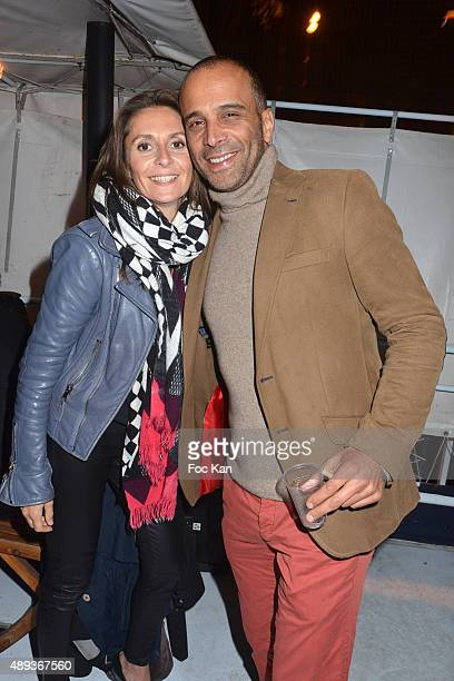 Former singer Adel Kachermi from 2Be3 band and his girl friend attend the 'Gael Polles' Birthday Party At The Belvedere Boat on September 19 2015 in...