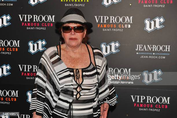 Former singer and club owner Regine also known as Regine Choukroun arrives at VIP Room to attend the Classic Tennis Tour 2nd Edition Party on July 12...