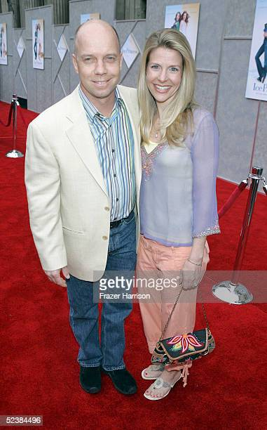 Former skater Scott Hamilton and wife Tracie arrive at the Walt Disney premiere of The Ice Princess at the El Capitan Theatre on March 13 2005 in...