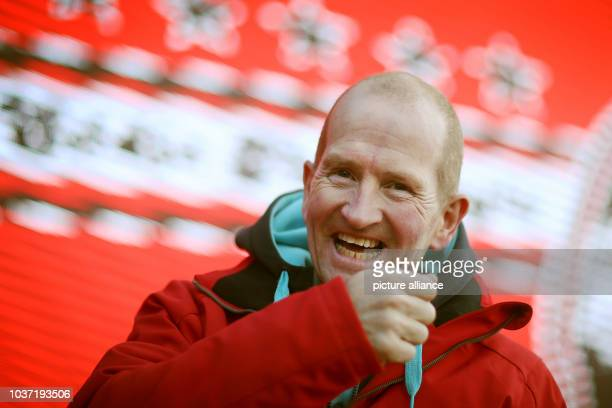 Former ski jumper Michael Edwards known as Eddie The Eagle is pictured before the first stage of the Four Hills ski jumping tournament at Oberstdorf...