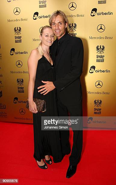 Former ski jumper Sven Hannawald and Marie Therese Mueller attend the United People Charity Night on September 18 2009 in Munich Germany