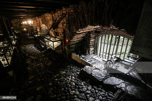 A former slaves quarters now displays slavery artifacts at the Casa dos Contos on April 2 2015 in Ouro Preto Minas Gerais state Brazil