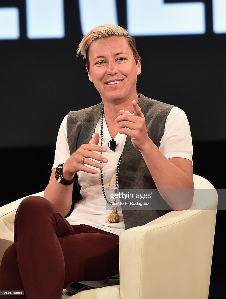 Former soccer player Abby Wambach speaks at the AOL 2016 MAKERS conference at Terranea Resort on February 2, 2016 in Rancho Palos Verdes, California.