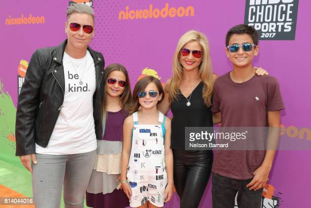 Former soccer player Abby Wambach , writer Glennon Doyle Melton and guests attend Nickelodeon Kids' Choice Sports Awards 2017 at Pauley Pavilion on...