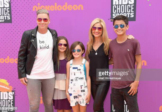 Former soccer player Abby Wambach writer Glennon Doyle Melton and guests attend Nickelodeon Kids' Choice Sports Awards 2017 at Pauley Pavilion on...