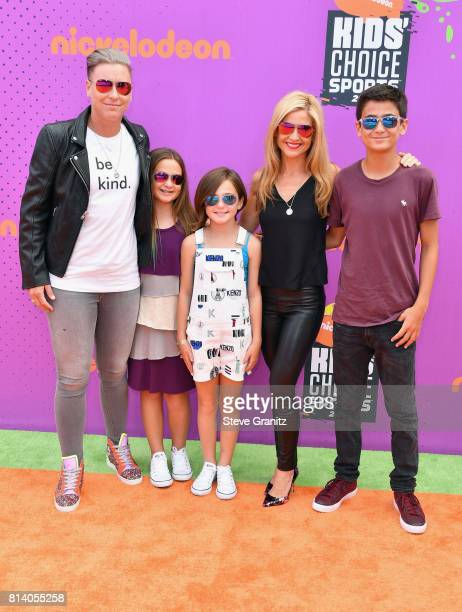 Former soccer player Abby Wambach writer Glennon Doyle Melton and guests attend the Nickelodeon Kids' Choice Sports Awards 2017 at Pauley Pavilion on...