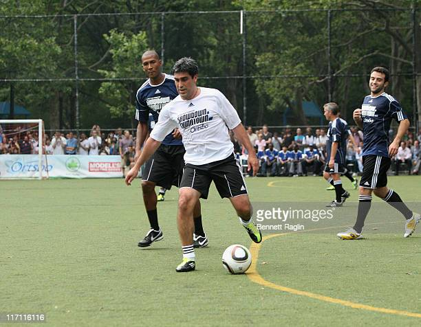 Former soccer player Claudio Reyna attends the 2011 Showdown in Chinatown soccer match at the Sara D Roosevelt Park on June 22 2011 in New York City