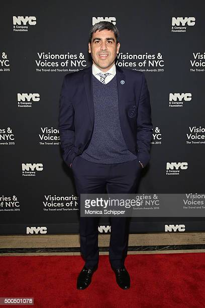 Former soccer player Claudio Reyna attends the Visionaries Voices of NYC NYC Company Foundation travel and tourism awards on December 8 2015 in New...