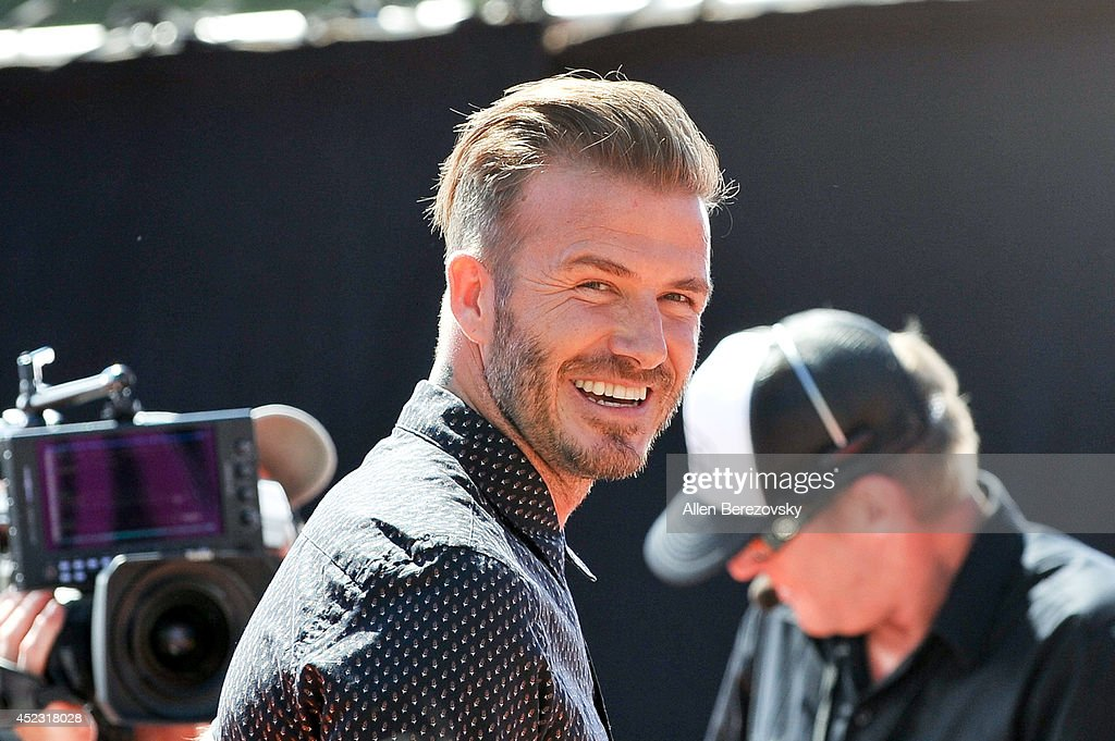 Former soccer player David Beckham attends Nickelodeon Kids' Choice Sports Awards 2014 at Pauley Pavilion on July 17, 2014 in Los Angeles, California.