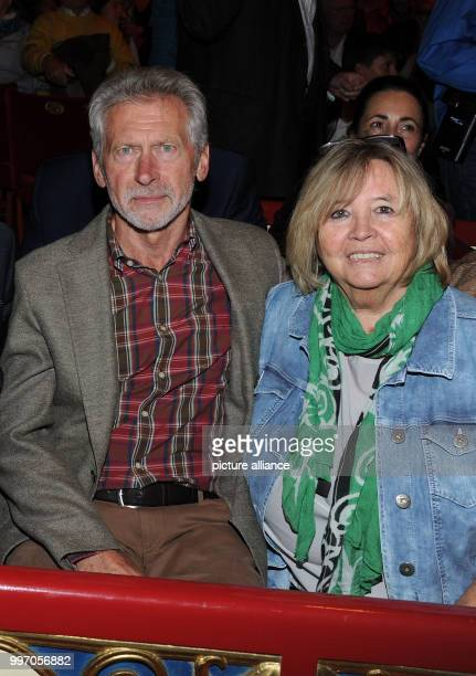 Former soccer player Paul Breitner and his wife Hildegard during the premiere gala of Circus Roncalli under the slogan 40 years of traveling towards...
