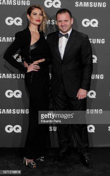 Former soccer player Pedja Mijatovi and wife Aneta Milicevic attend the 'GQ Men of the Year' awards photocall at Palace hotel on November 22 2018 in...