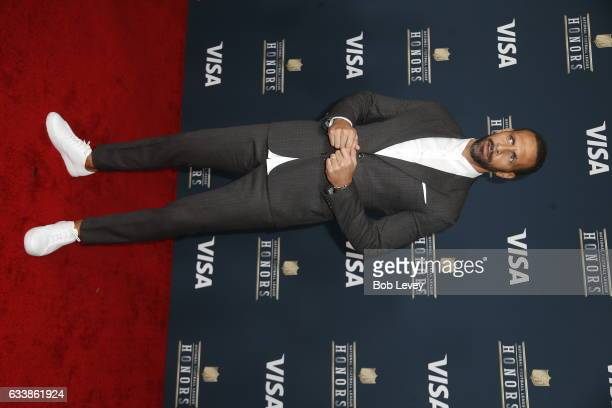 Former soccer player Rio Ferdinand attends 6th Annual NFL Honors at Wortham Theater Center on February 4 2017 in Houston Texas