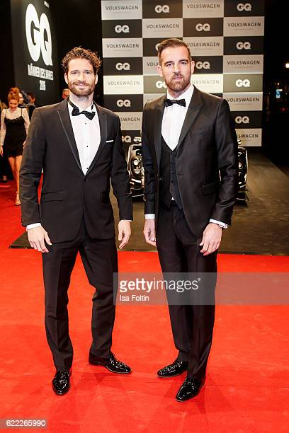 Former soccer players Arne Friedrich and Christoph Metzelder attend the GQ Men of the year Award 2016 at Komische Oper on November 10, 2016 in...