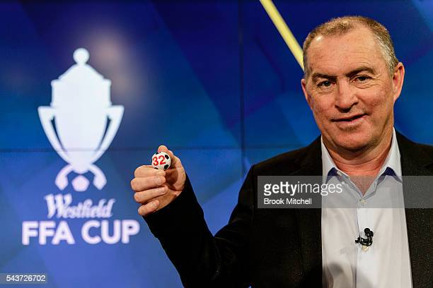 Former Socceroos captain Paul Wade poses during the FFA Cup round of 32 draw announcement at the FFA Offices on June 30 2016 in Sydney Australia