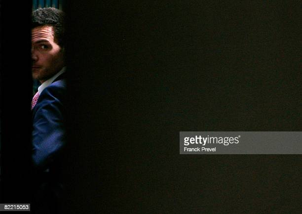 Former Societe Generale trader Jerome Kerviel arrives at the financial police headquarters August 4 2008 in Paris France Kerviel is blamed for the...