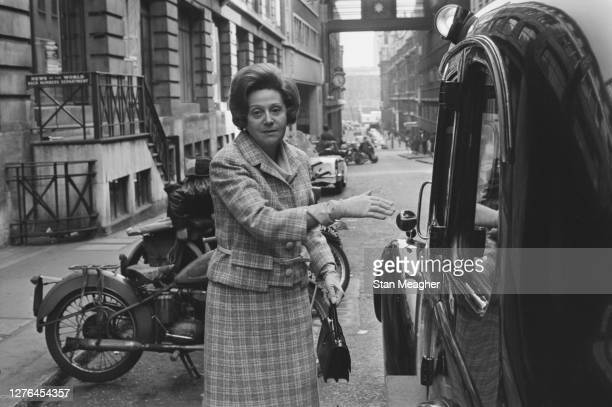 Former SOE agent Odette Hallowes outside the News of the World offices in London UK 29th April 1966
