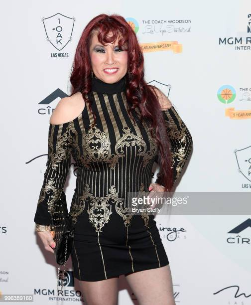 Former Soul Train dancer Cheryl Song attends the 5th Anniversary gala for the Coach Woodson Invitational presented by MGM Resorts International and...