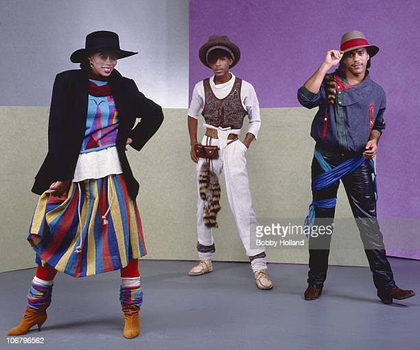 Former Soul Train dancers and R B group Shalamar pose for a portrait on October 7 1982 in Los Angeles California