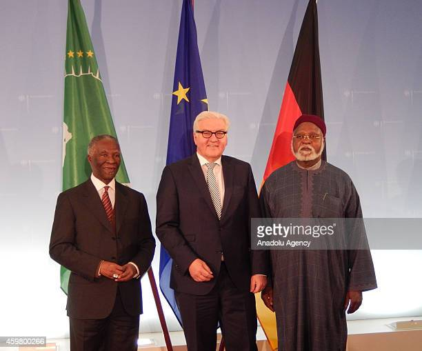 Former South African President and Chair of the African Union's High Level Implementation Panel Thabo Mbeki meets with German Foreign Minister...