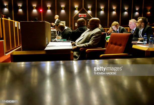 Former South African President Jacob Zuma attends his trial for alledged corruption in the High Court in Pietermaritzburg, on May 23, 2019. - Zuma is...