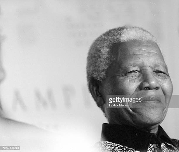 Former South African President Nelson Mandela 3 September 2000 AFR Picture by TANYA LAKE