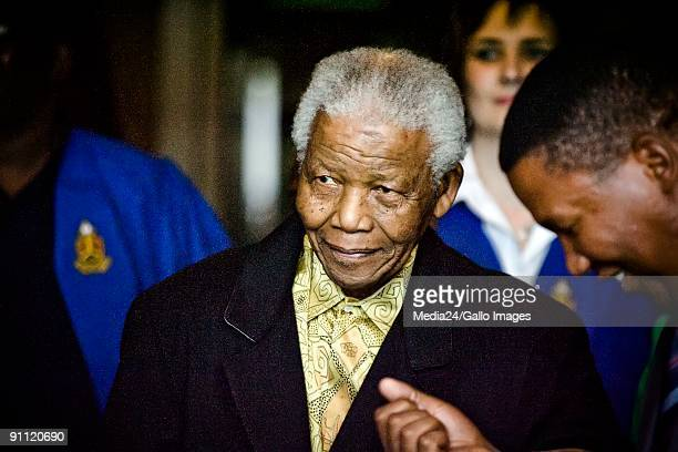 Former South African president Nelson Mandela makes a surprise appearance at the University of Pretoria His grandson Ndaba Thembekile Mandela...