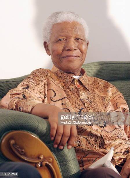 Former South African president Nelson Mandela visits Ray Oom Ray Mhlaba South Africa