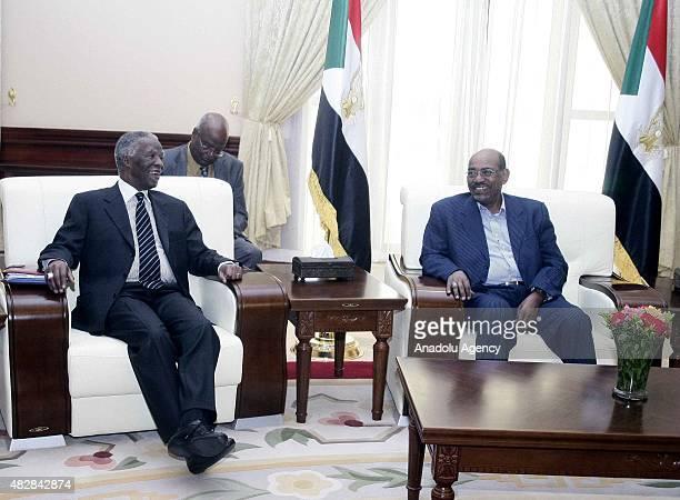 Former South African President Thabo Mbeki meets with Sudanese President Omar al-Bashir in Khartoum, Sudan on August 03, 2015.