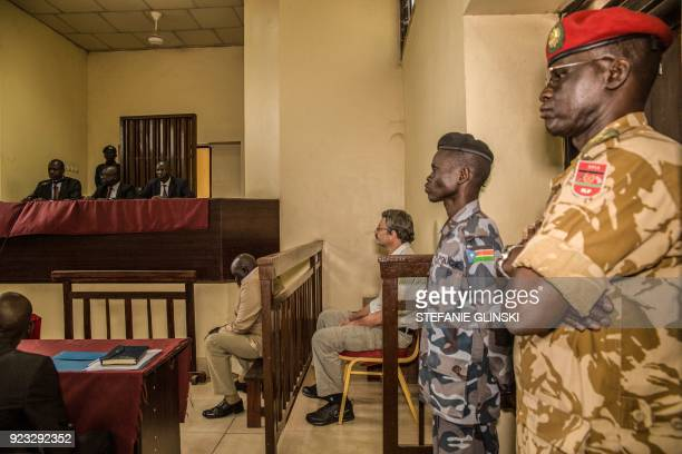 A former South African soldier William Endley who was hired in 2016 to advise former vice president and rebel leader Riek Machar sits at a court in...
