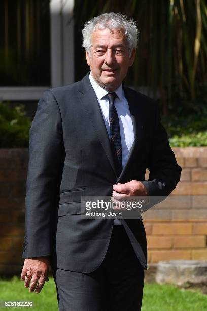 Former South Yorkshire Police detective chief inspector Alan Foster leaves Warrington Magistrates Court on August 9 2017 in Warrington England Six...