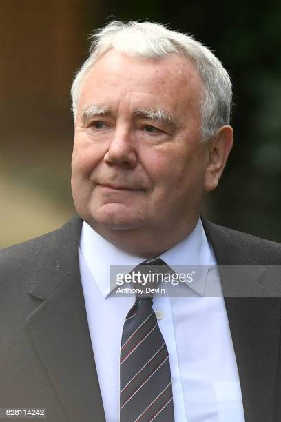Former South Yorkshire Police solicitor Peter Metcalf arrives at Warrington Magistrates Court on August 9 2017 in Warrington England Six individuals...