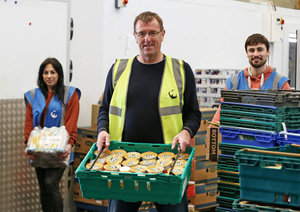 GBR: Southampton Legends Matt Le Tissier and James Beattie Volunteer at a Local Food Distribution Company