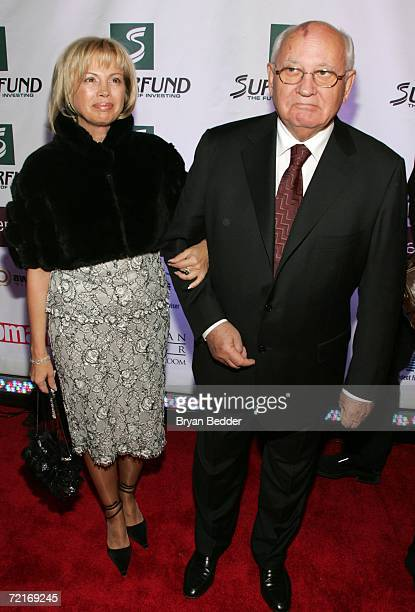 Former Soviet President Mikhail Gorbachev and his daughter Irina Virganskaya attend the 3rd Annual Women's World Awards at Hammerstein Ballroom...