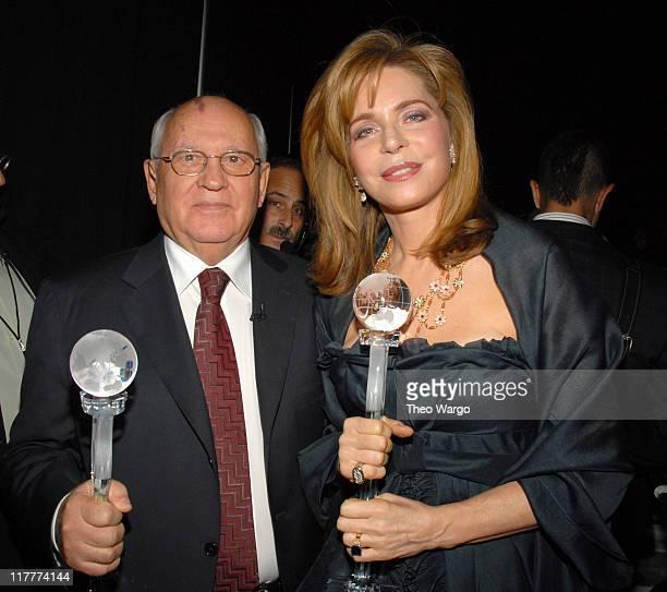Former Soviet President Mikhail Gorbachev and Queen Noor of Jordan * EXCLUSIVE *
