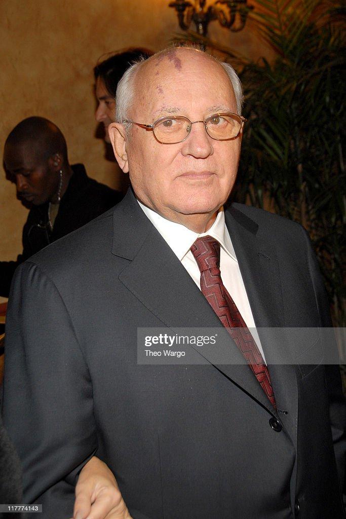 Former Soviet President Mikhail Gorbachev during The 2006 Women's World Awards - Inside Arrivals at The Hammerstein Ballroom in New York City, New York, United States.