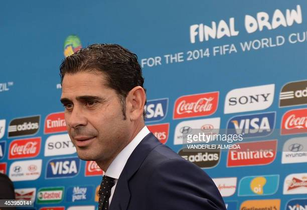 Former Spain's and Real Madrid's football star Fernando Hierro arrives for the final draw of the Brazil 2014 FIFA World Cup in Costa do Sauipe Bahia...