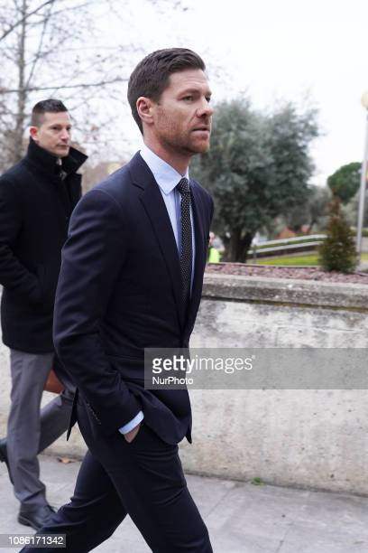 Former Spanish football player Xabi Alonso after testified in Madrid Provincial Court for the tax evasion trial in Madrid Spain on January 22 2019