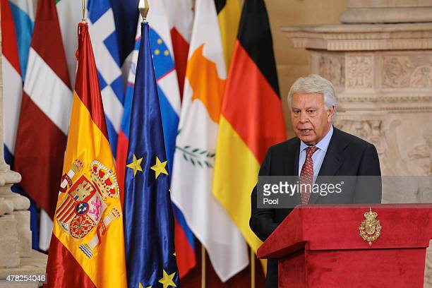 Former Spanish Prime Minister Felipe Gonzalez attends the 30th Anniversary of Spain being part of European Communities at the Royal Palace on June 24...