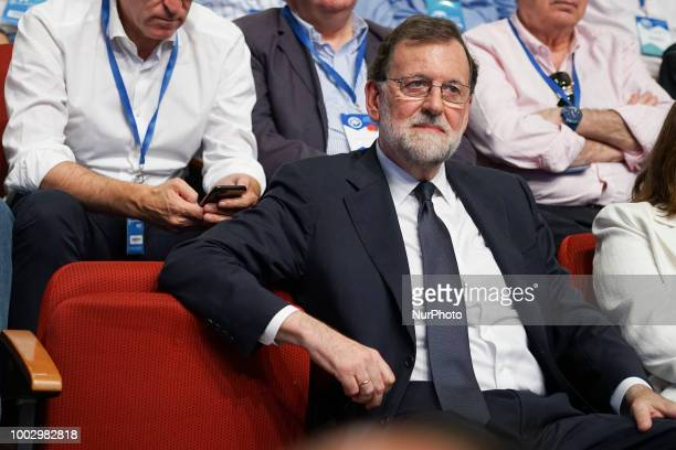 Former Spanish Prime Minister Mariano Rajoy during the Partido Popular national congress held in Madrid Spain 20 July 2018
