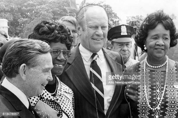 Former Speaker of the House Carl Alber former United States congresswoman Shirley Chisholm former United States Vice President Gerald Ford and...
